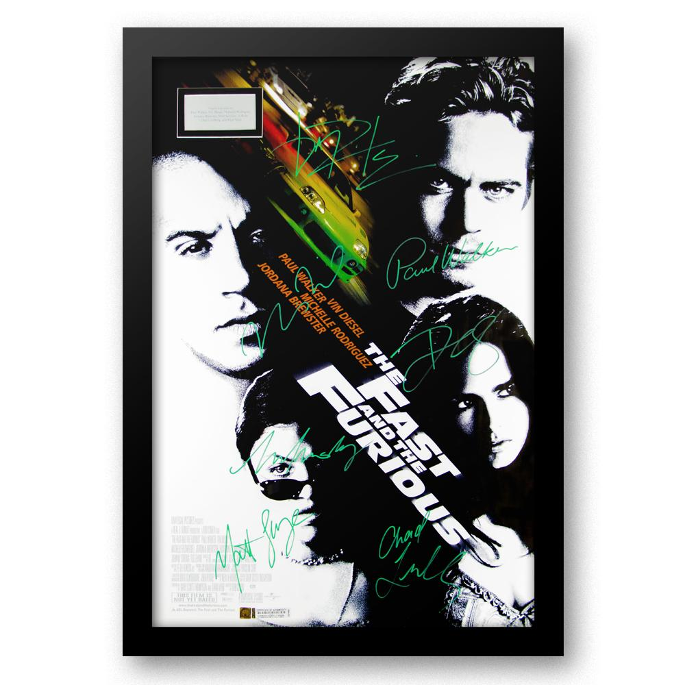 Cast signed movie poster