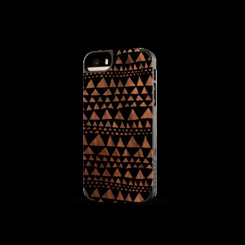 Printed Triangle Walnut iPhone 5/5s Case