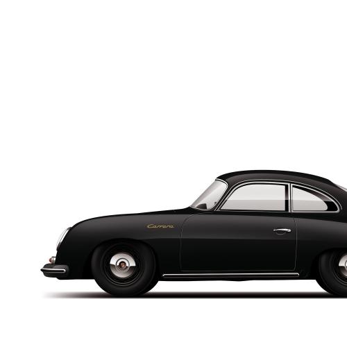 car prints, monochrome collection, luxury car art