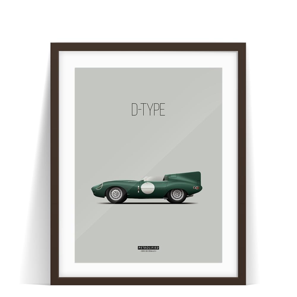 car prints, jaguar, jaguar dtype, luxury car art