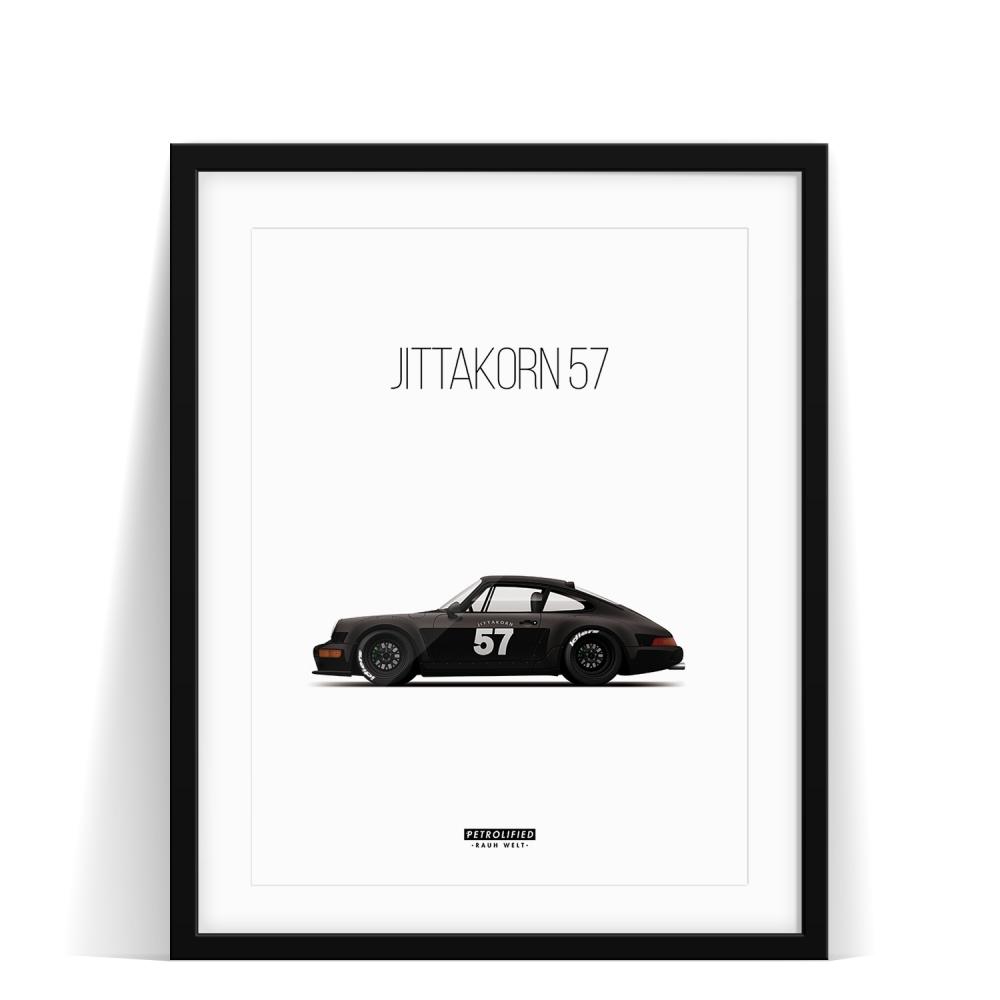 car prints, Jittakorn, Jittakorn 57, luxury car art