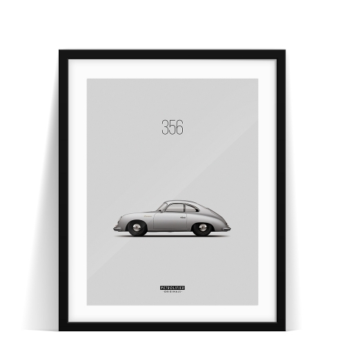 car prints, Porsche 356, luxury car art