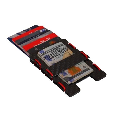 Ultra Carbon Fiber Wallet - Red, Slimtech