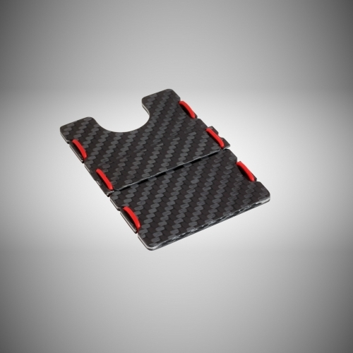 RIFD Carbon Fiber Wallet - Red