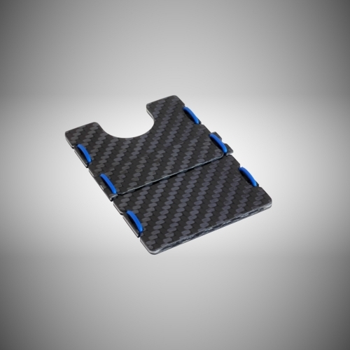 RIFD Carbon Fiber Wallet - Blue