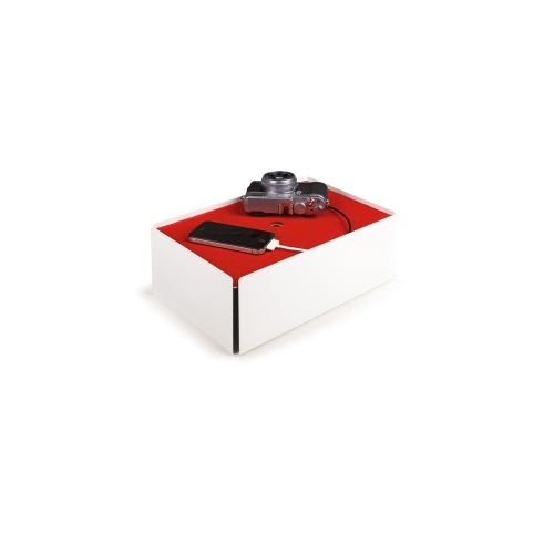 Charge-Box, White/Red