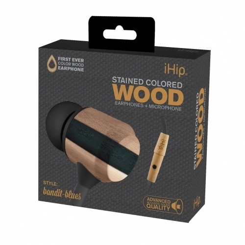 Bandit Blues Wood Earphone