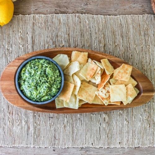 Acacia Chip/Dip Platter, Ellipse, Sparq Home