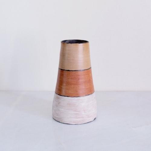 Three-color Ceramic Vase, Rose & Fitzgerald
