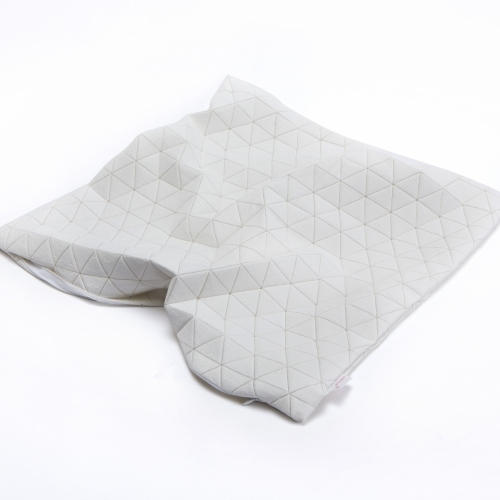 Ilay Pillow Cover, White, Mikabarr