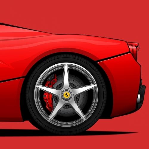 Ferrari La Ferrari Print, Unrivaled