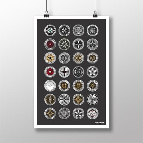Vintage Wheels Print