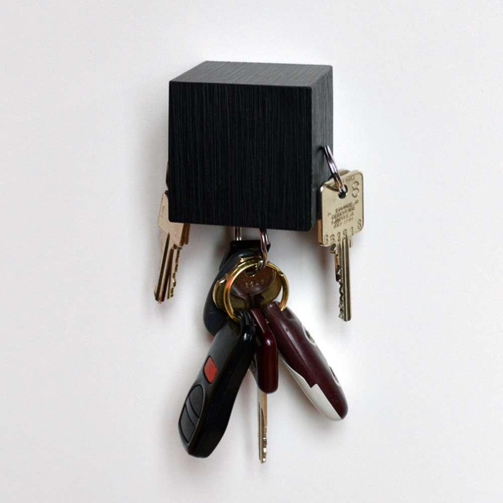Kube Key Holder, Black, Tat Chao