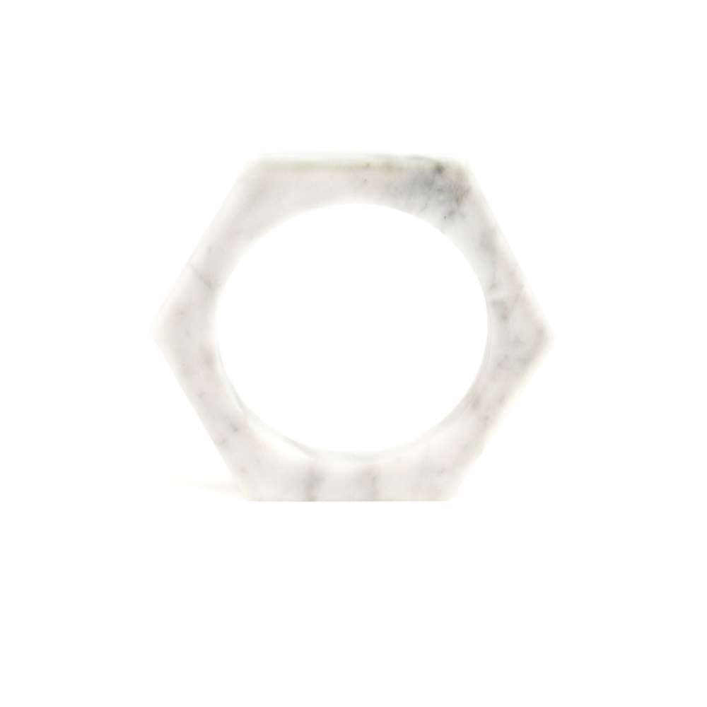 O Form-Bracelet No. 01 Marble White