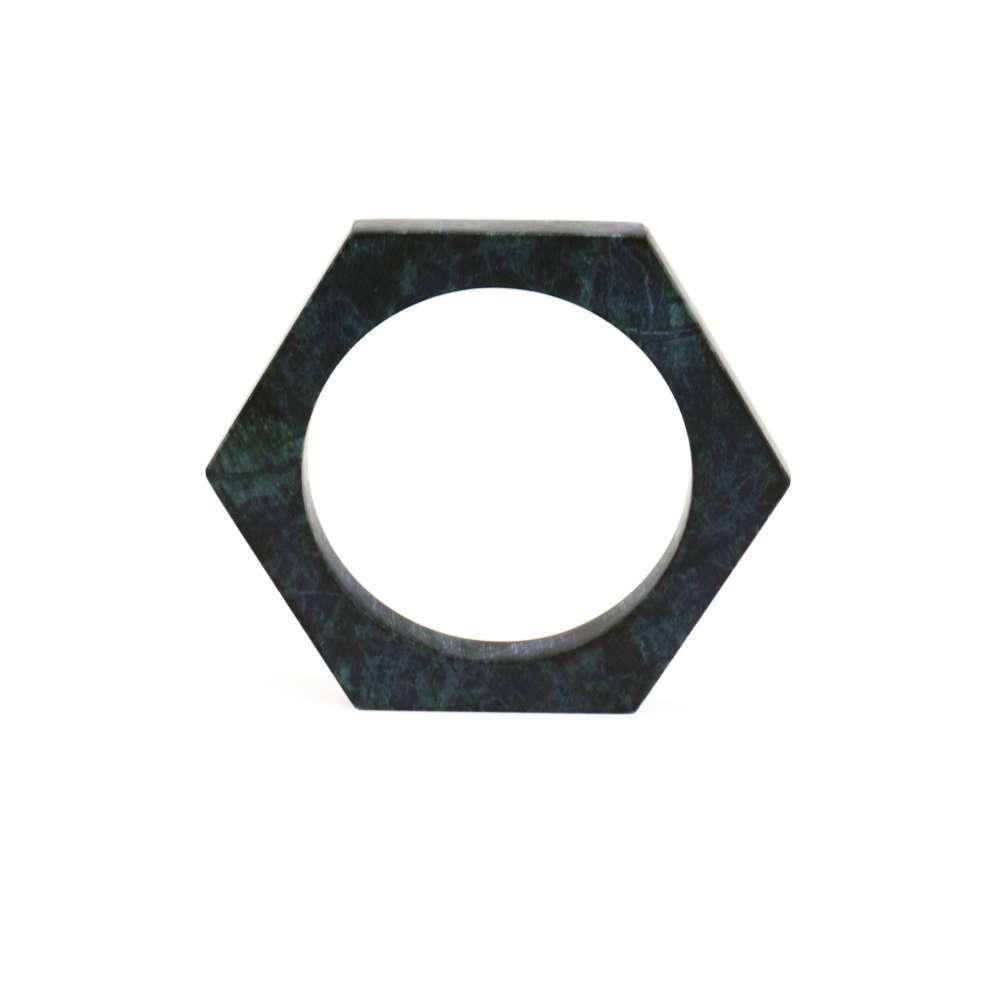 O Form-Bracelet No. 01 Marble Green