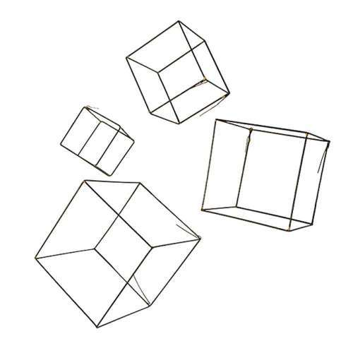 Free Form Wire Cubes - Designed for Easy Installation and Creative Expression