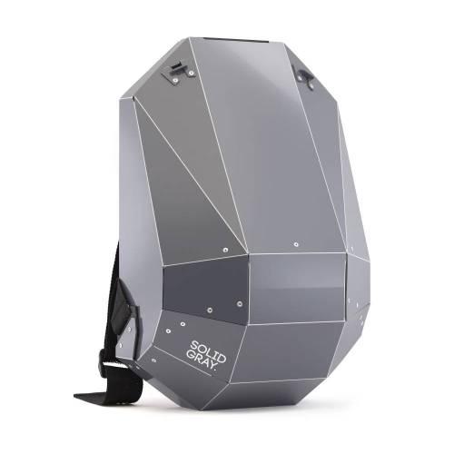 Solid Gray Backpack, Dark Gray