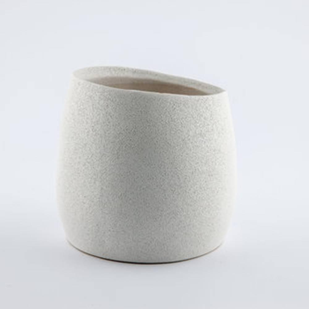 Baz Pot, White - Shiny Round Pot
