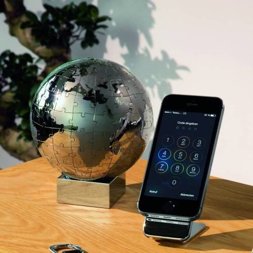 Extravaganza Puzzle Globe - A Chrome Plated Globe and Puzzle for your Home or Office