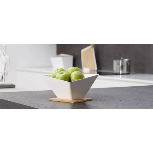 Draining Fruit Bowl + Mat - A Modern Sculptural Bowl that Doubles as a Colander
