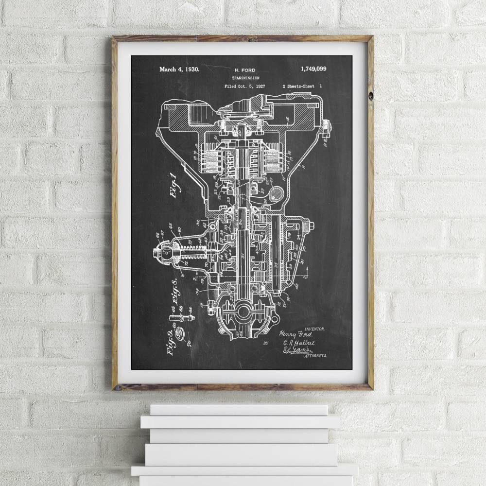 Automobile Transmission Patent Print - Patent Prints