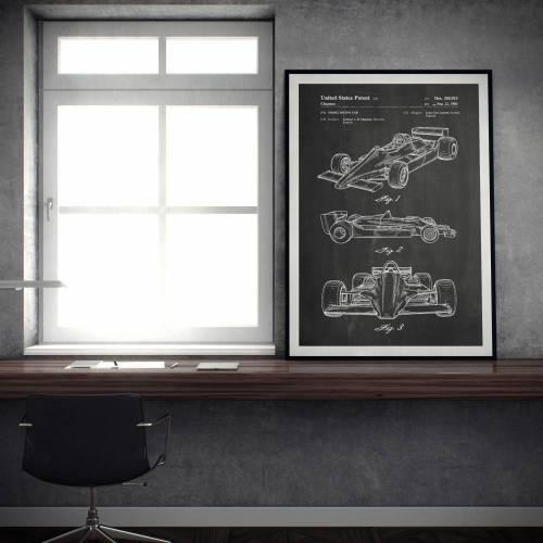 Formula 1 Car Patent Print