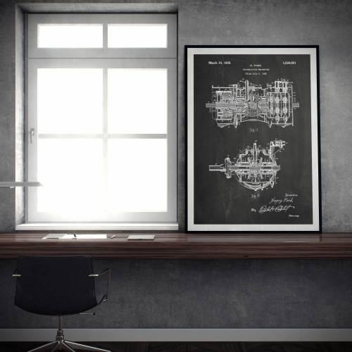 Transmission Mechanism Patent Print - Patent Prints