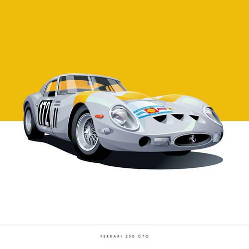 Ferrari 250 GTO Art Print