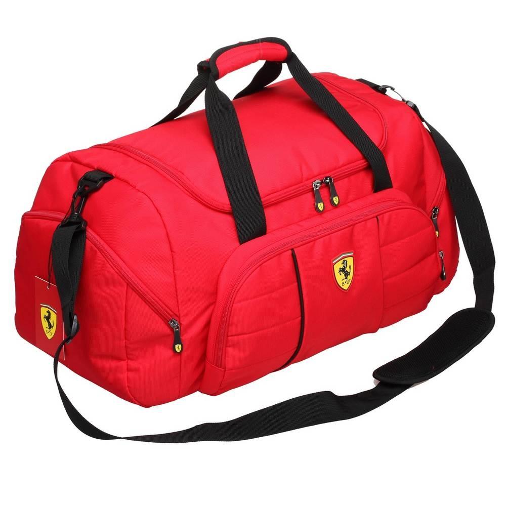 Red Overnight Duffel Bag - Ferrari