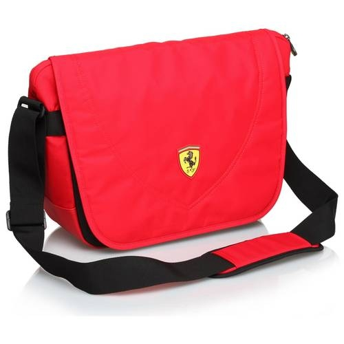 Red Travel Messenger Bag - Ferrari