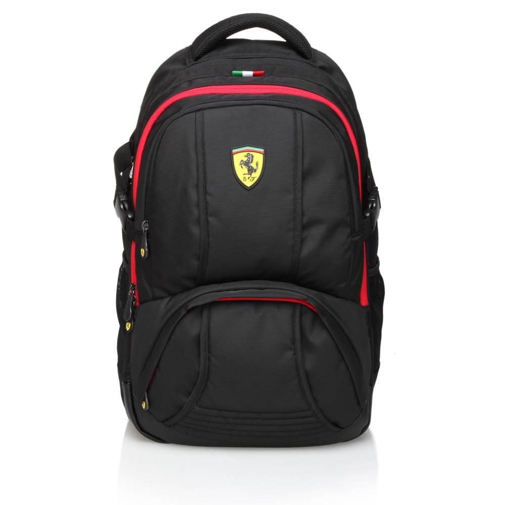 Black Travel Backpack - Ferrari