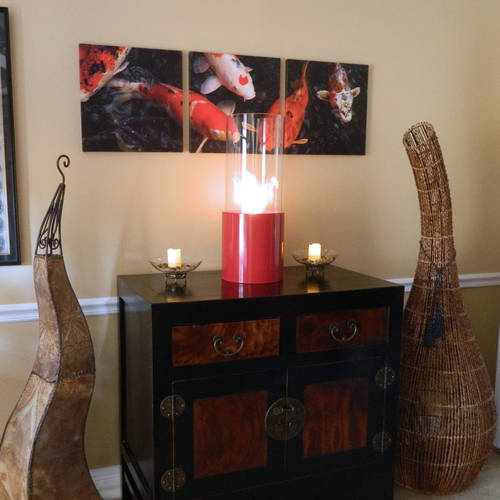 Doppio Rouge Fireplace - The Perfect Backdrop for Bright