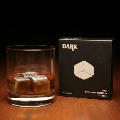 Whiskey Stones   Round Edged Soapstone Cubes   SipDark