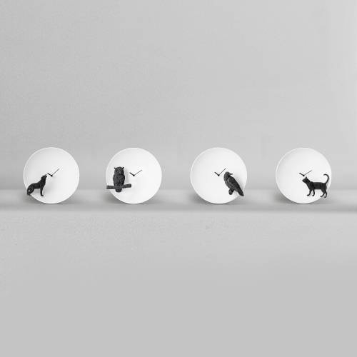 Moon X Cat Clock  - Haoshi Design
