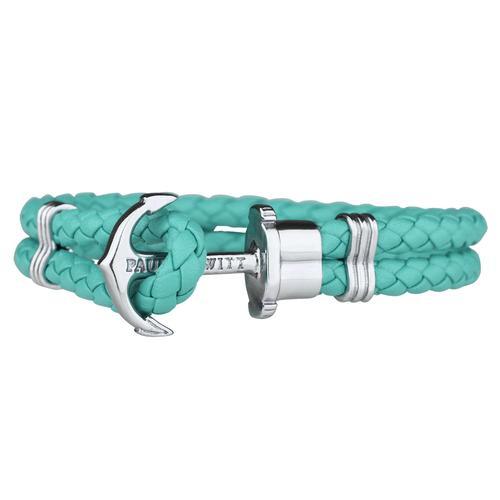 PHREP Leather Bracelet, Turquoise/Silver