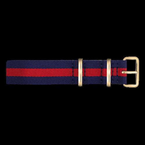 Gold Line Watch, Navy Blue/Red - Paul Hewitt