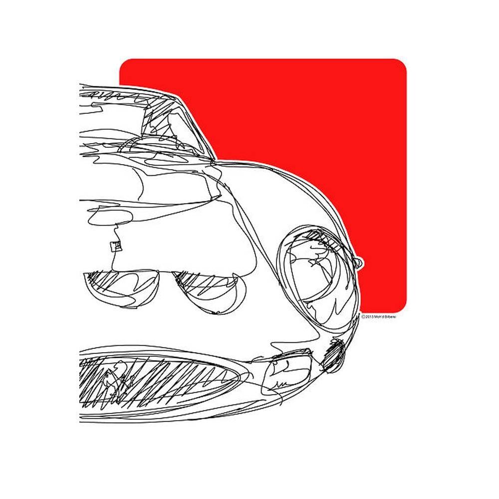 Ferrari 250 GTO Watercolor Print | By The Artist Bilbeisi