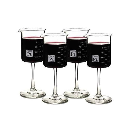 Beaker Wine Glasses, Set of 4