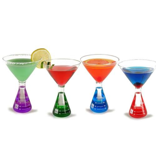 Martini Glasses with colored water