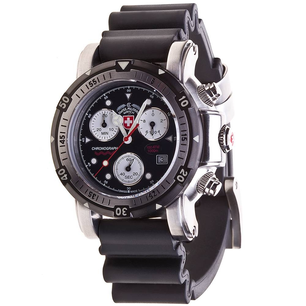 Swiss Military Watches - SEEWOLF I SCUBA, Black