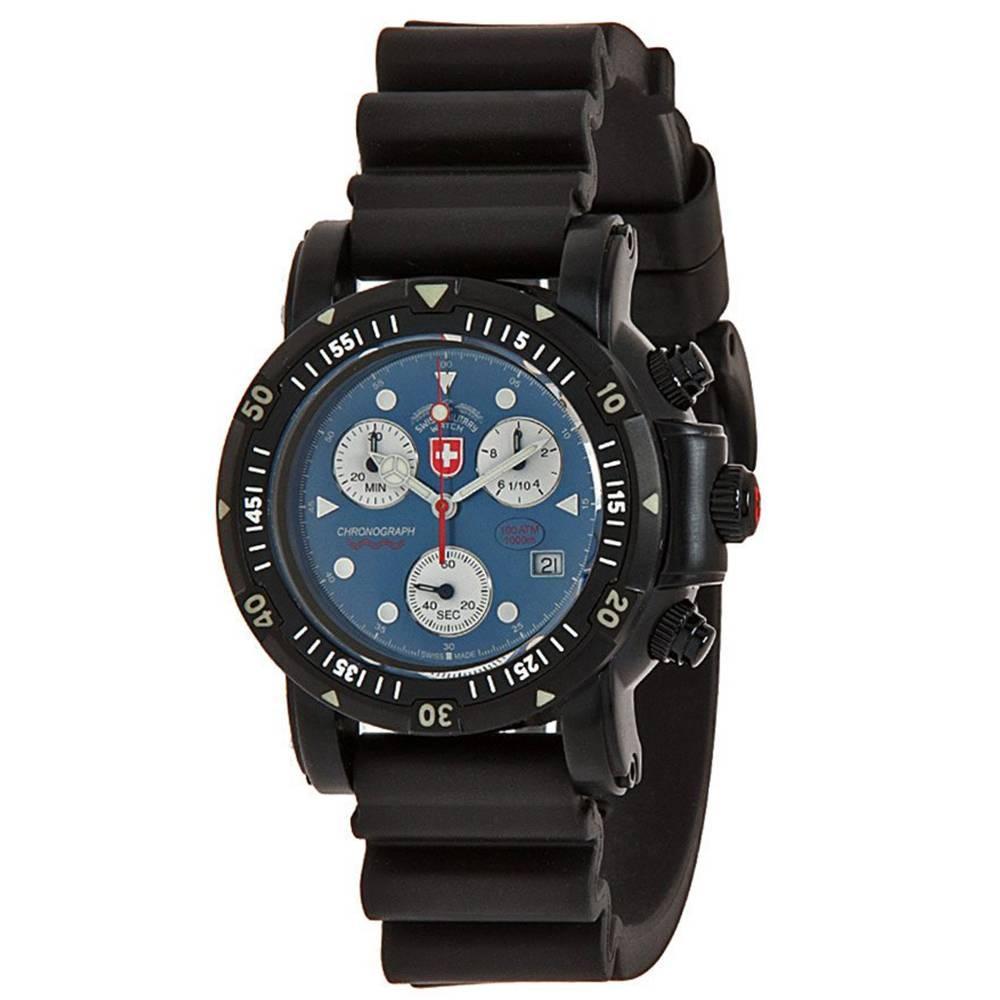 Swiss Military Watches  - SEEWOLF I SCUBA NERO, Blue