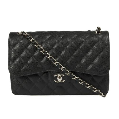 Chanel Classic Double Flap Bag Caviar Calfskin Leather