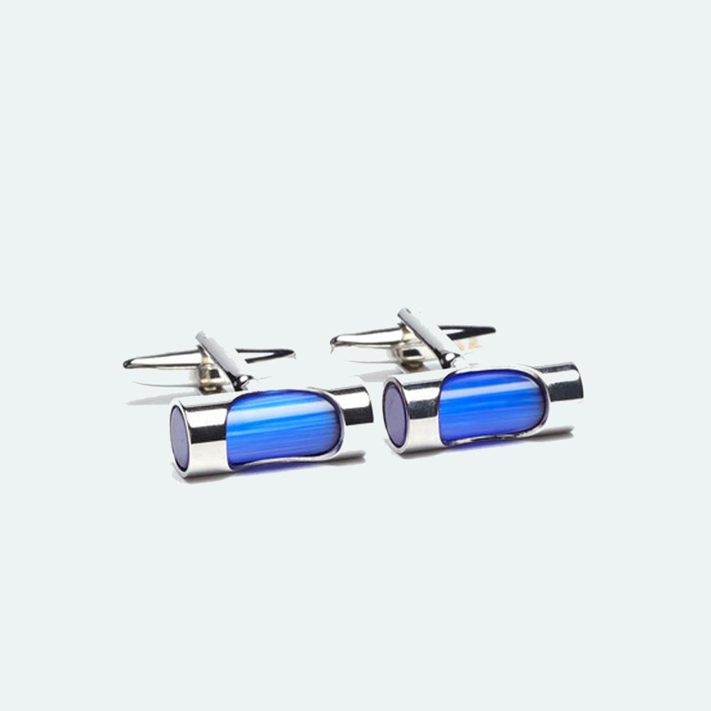 Men's Blue & Silver Cufflink