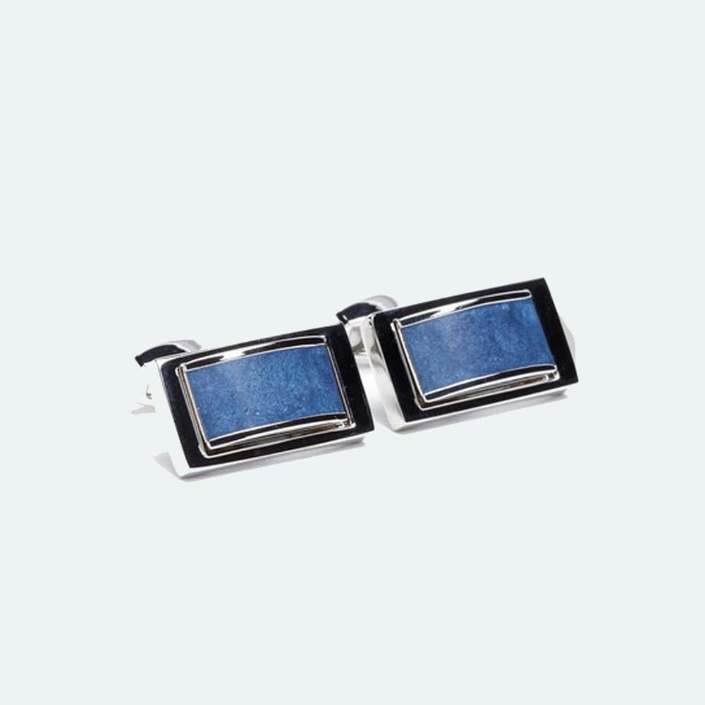 FlipMyTie Men's Royal Blue Square Cufflink