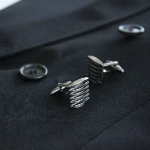 Silver Knife Sharpner Cufflink - FlipMyTie