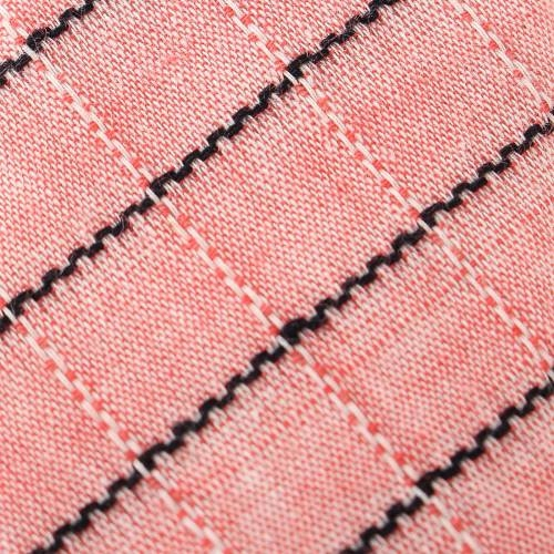Stripe Tease Salmon Tie with Tie Clip