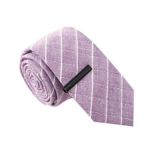 Vulgar Veronica Purple Tie with Tie Clip