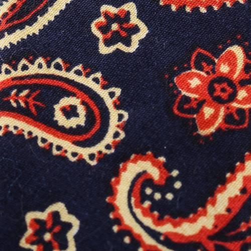 'Paisley Party' Organic Cotton Navy Tie