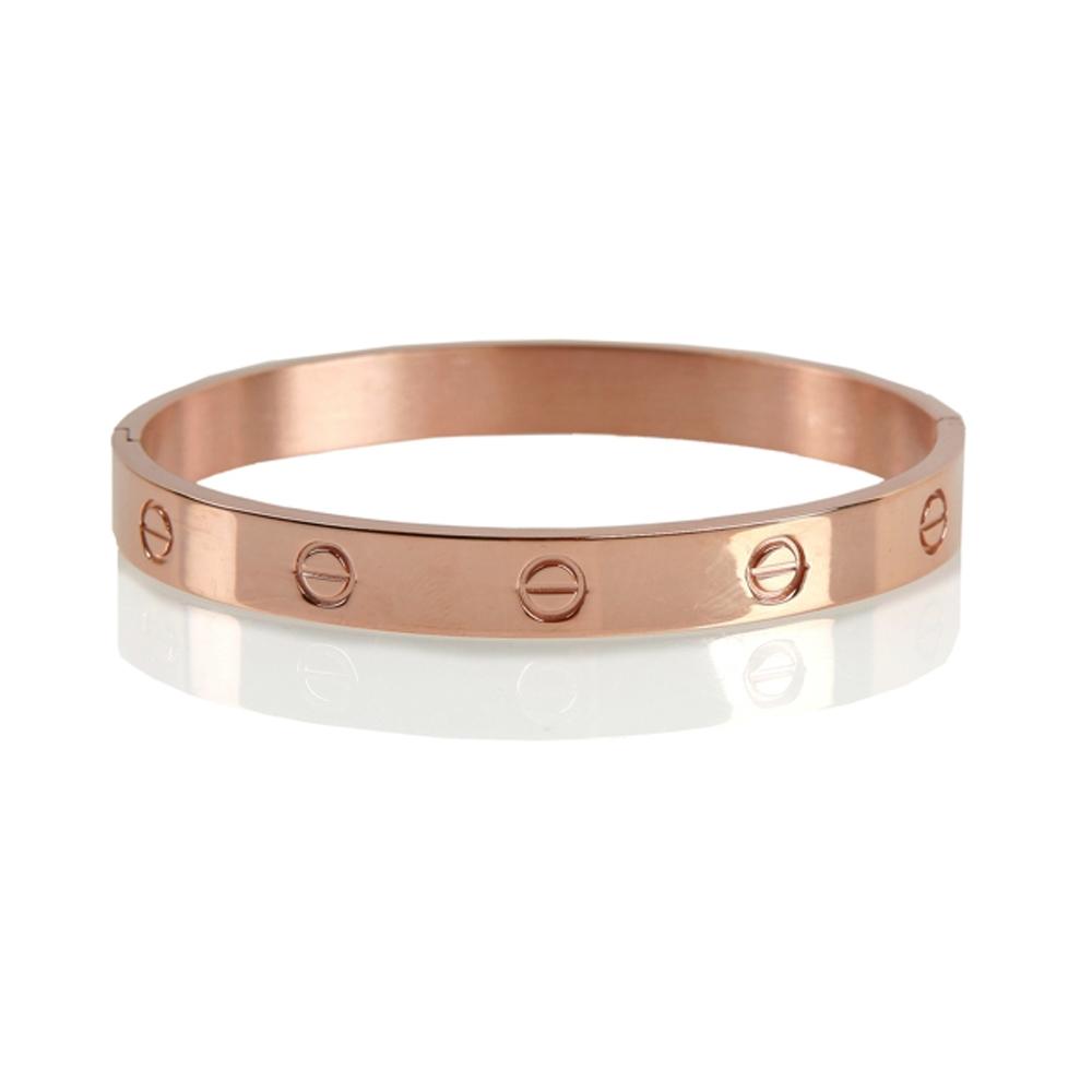 Rose Gold Edirne Stainless Steel Bracelet - Buttigo