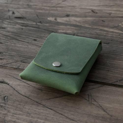 Green Snap Card Case